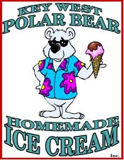 Polar Bear Ice Cream Shop Logo